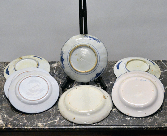 Lot 417_1: Various 19 and 20 cent plates including three Japanese Imari and five Eastern France with floral decor.