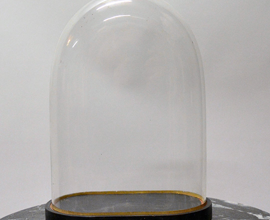 Lot 423: 19th cent glass dome. H39cm.