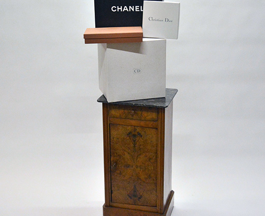 Lot 470_1: Various boxes including Chanel,Christian Dior and Louis Vitton.