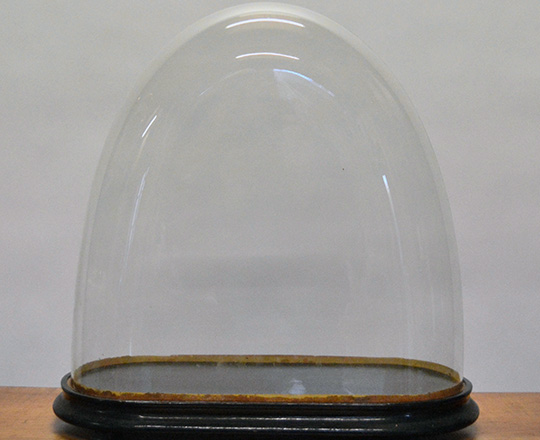 Lot 472: 19th cent glass dome. H47cm.